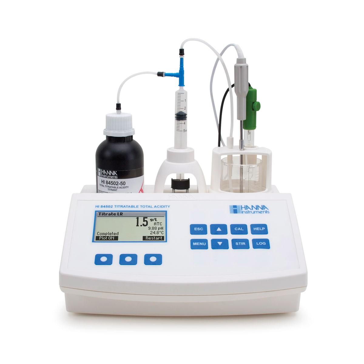 Thiết bị mini phân tích tổng nồng độ acid trong rượu HI84502