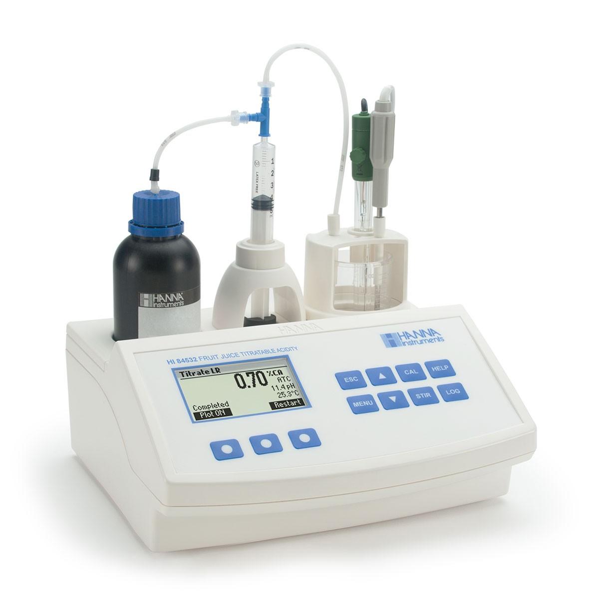 Thiết bị mini phân tích nồng độ acid trong nước hoa quả HI84532