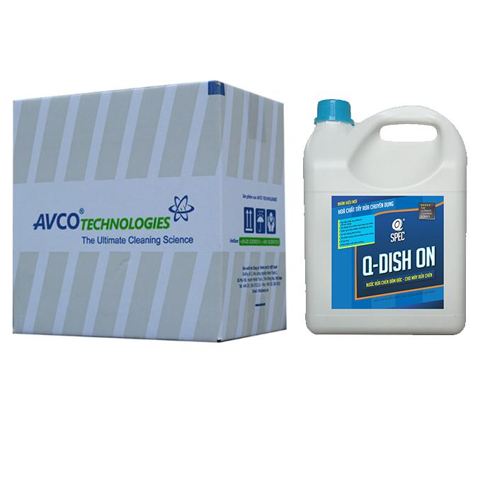 Q KITCHEN Pro Nước rửa chén - cho máy rửa chénQ DISH ON - Thùng 4 can 4L