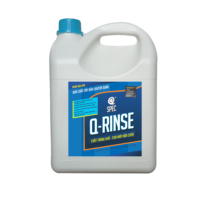 Q KITCHEN Pro Chất tráng khô cho máy rửa chénQ RINSE - Can 4L