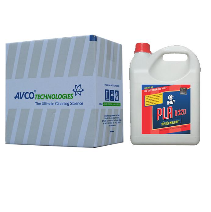 Chất tẩy rửa nhựa PET, PVC PLA H320 - Thùng 4 can 4L