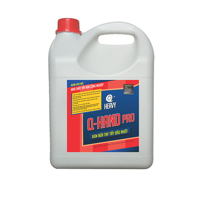 Q HAND Pro Kem rửa tay tẩy dầu nhớt - Can 4L (không có vòi nhấn)