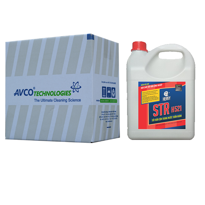 Hóa chất tẩy rửa cặn đường ống nước STR H521 - Thùng 4 can 4L