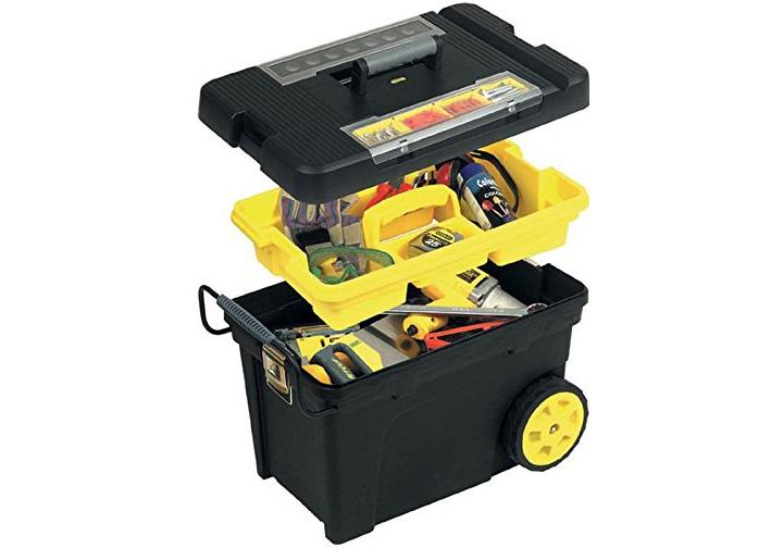 Hộp dụng cụ (nhựa) có bánh xe 61x42x38cm Stanley 1- 92-904