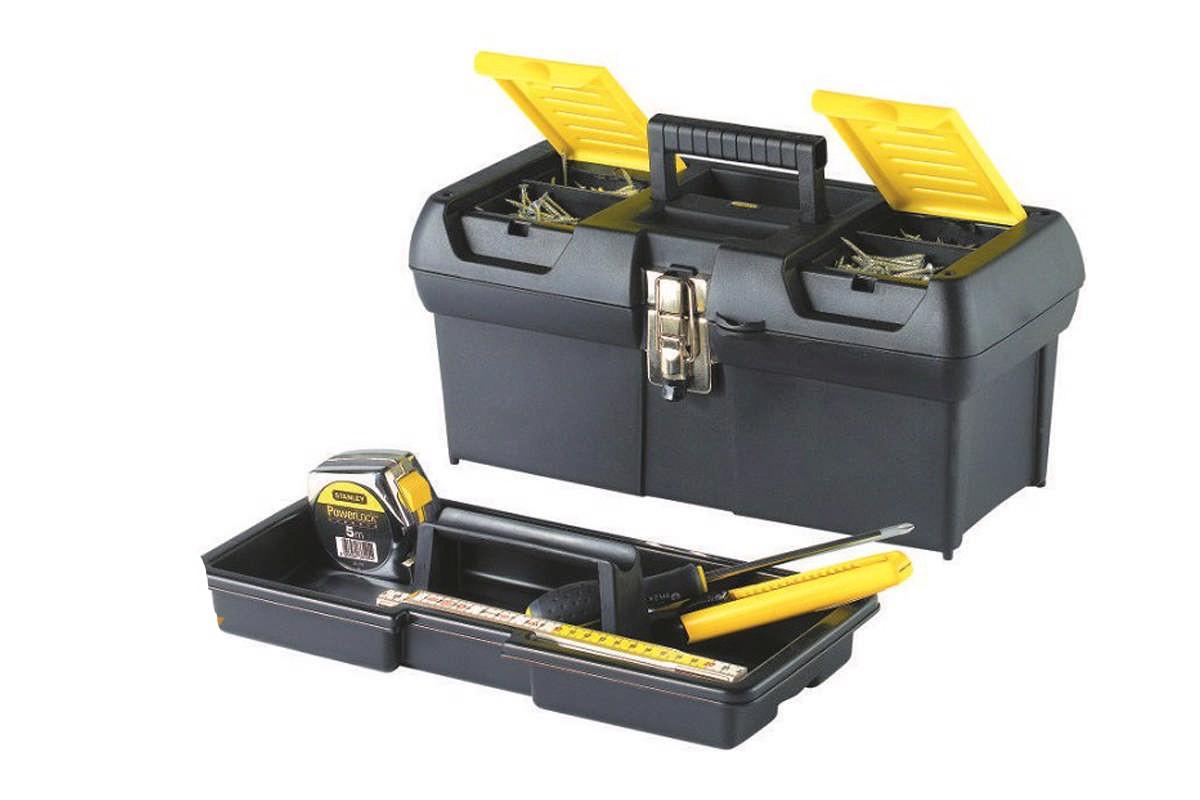 """Hộp dụng cụ (nhựa) khóa sắt 12.5"""" Stanley 1-92-064"""