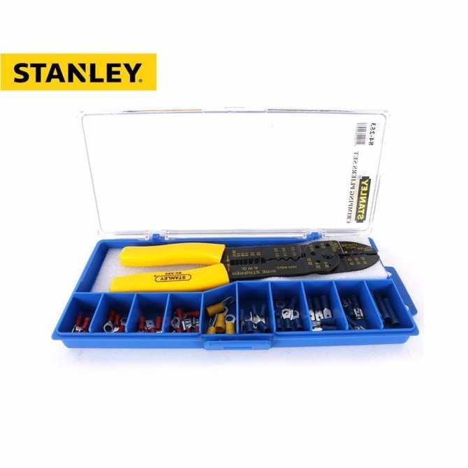 """Kềm bấm cos dài 9""""/230mm hộp có đầu cos Stanley 84- 253-22"""