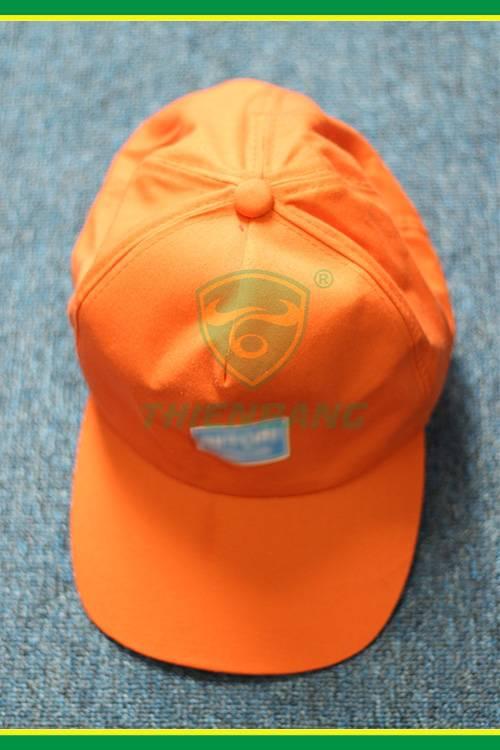 Mũ vải công nhân màu cam