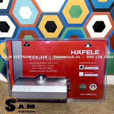 Tay đẩy hơi DIY HAFELE 499.30.002, cửa nặng 45-80kg, không giữ cửa