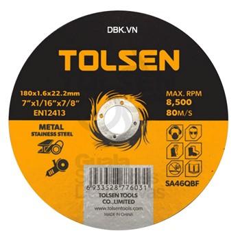 ĐĨA CẮT SẮT & INOX 115x1.2x22mm TOLSEN 76102