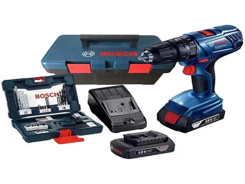 Máy khoan pin 18V GSB 180-LI (hộp công cụ + set 41 món AC) 06019F83K2 Bosch