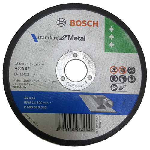 Đá cắt 105x1.2x16mm (sắt) - Standard for Metal 2608619343 Bosch