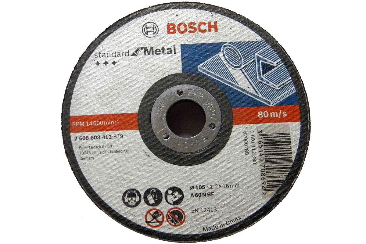 Đá cắt 105x1.2x16mm (sắt) - Standard for Metal 2608603412 Bosch