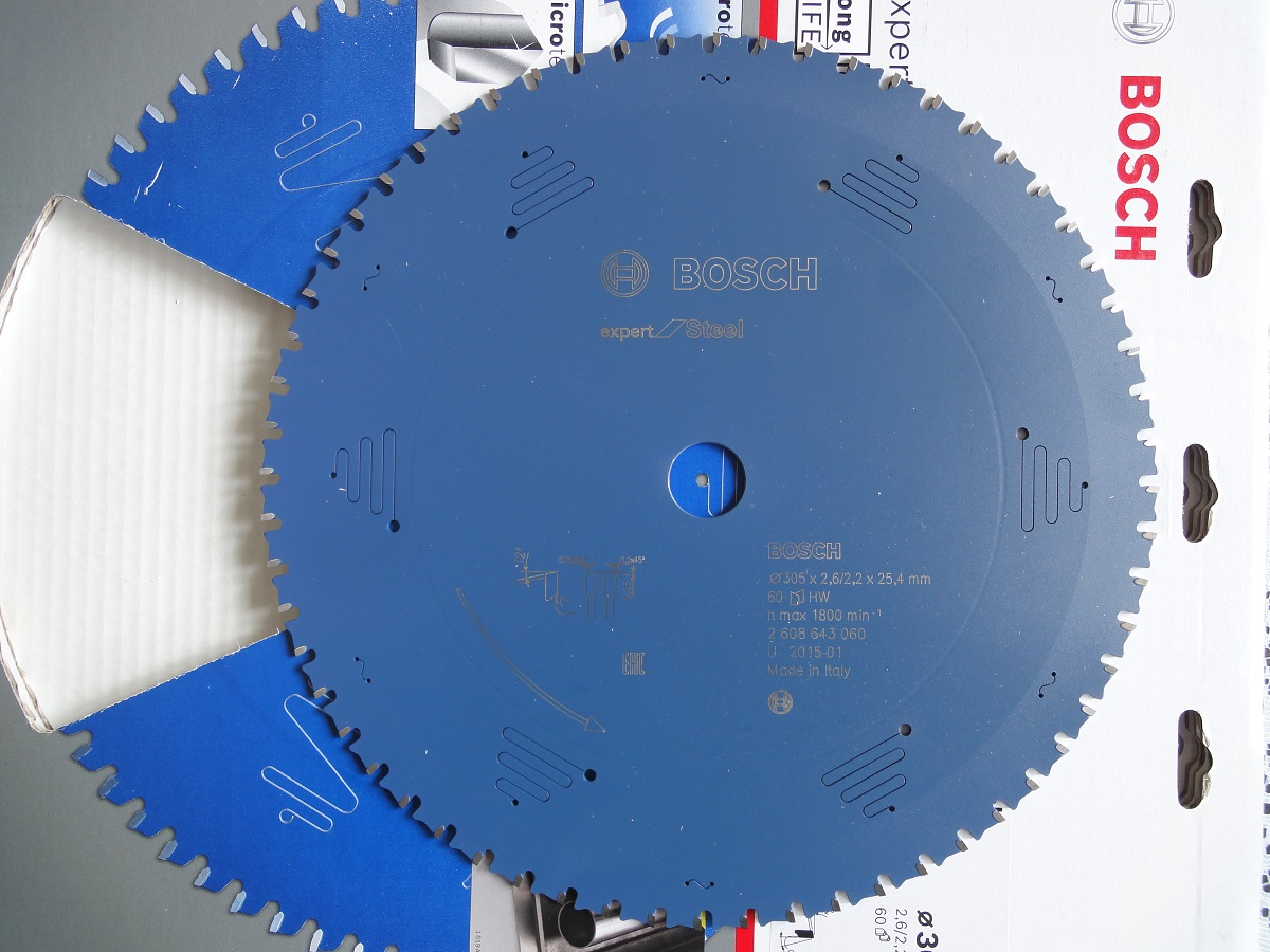 Lưỡi cắt sắt EU range (305*25.4*2.6/2.2 T60) 2608643060 Bosch