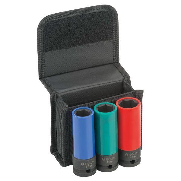 Bộ 3 chiếc 85mm 1/2'' - 17, 19, 21 L = 85 2608551102 Bosch