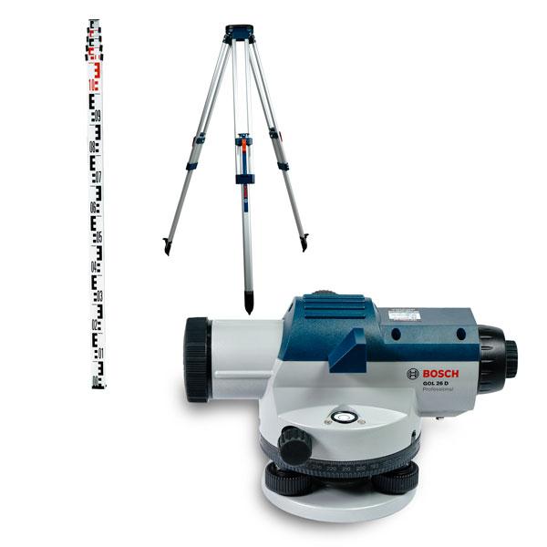 Bộ set GOL 26 D + Chân máy thủy bình BT 160 + Cây mia GR 500 0615A000PS Bosch
