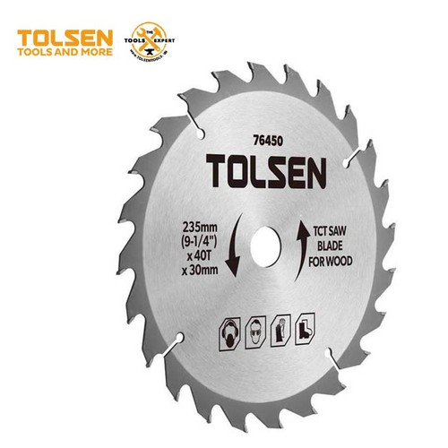 ĐĨA CẮT GỖ 235mm*40 Răng TOLSEN 76450