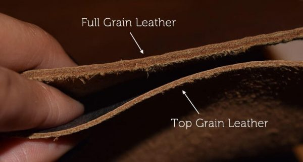 so sánh da top grain và full grain