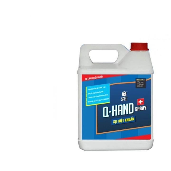 Dung dịch rửa tay khô diệt khuẩn AVCO Q-HAND SPRAY 4L - Viện Pasteur chứng nhận