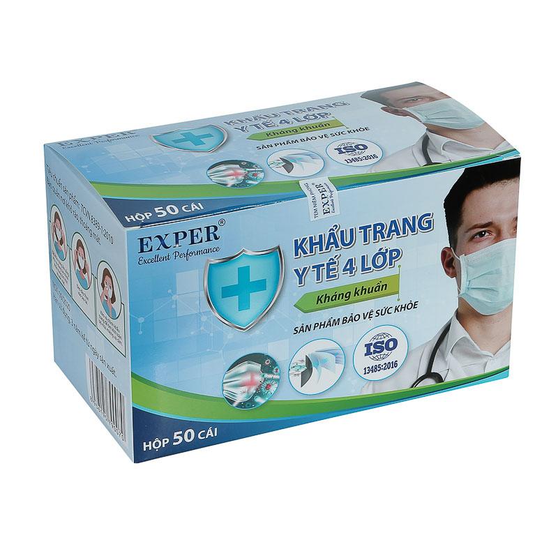 Khẩu trang y tế 4 lớp kháng khuẩn