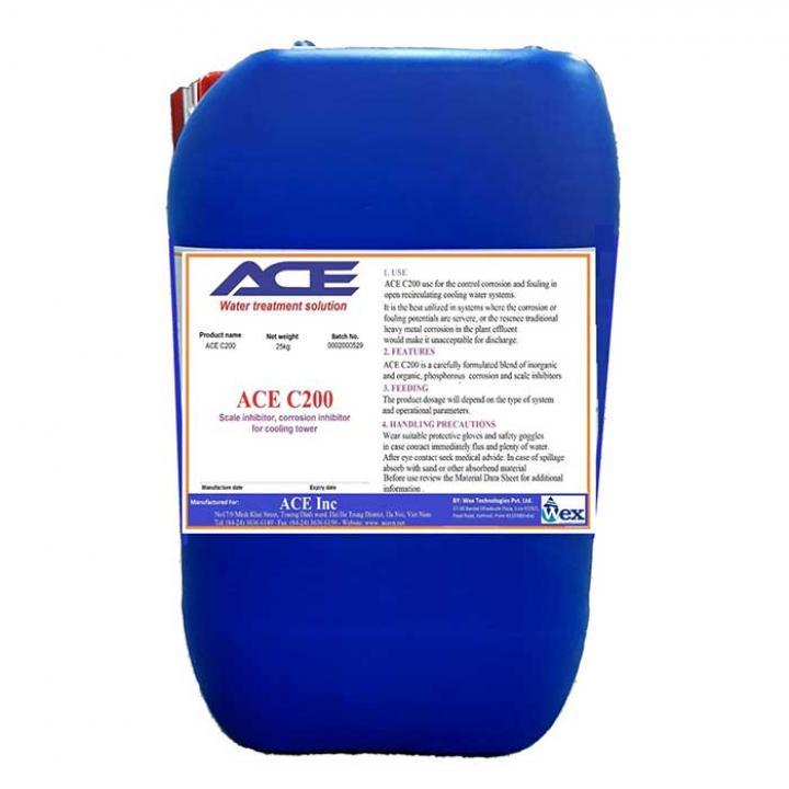 Chất chống cáu cặn Tháp Giải Nhiệt ACE C200, can 25kg