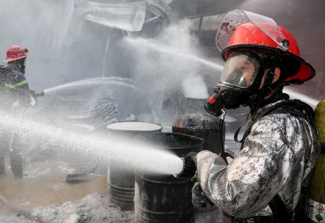 mặt nạ trong chữa cháy