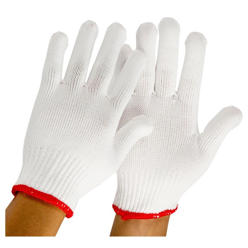 Găng tay sợi Poly trắng 75g - Kim 7