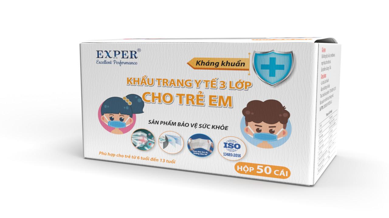 Khẩu trang y tế 3 lớp kháng khuẩn - loại trẻ em