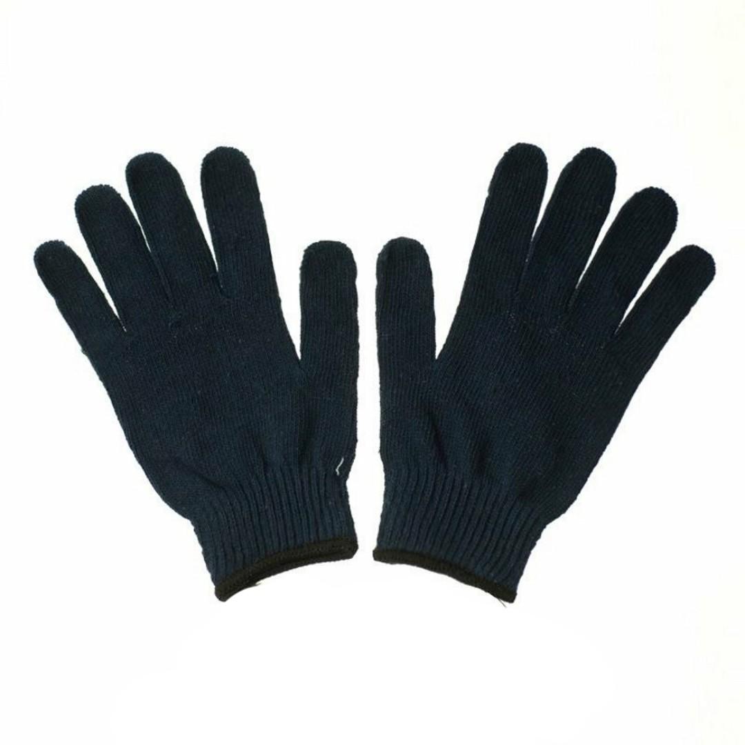 Găng tay sợi Poly đen 60g - Kim 10